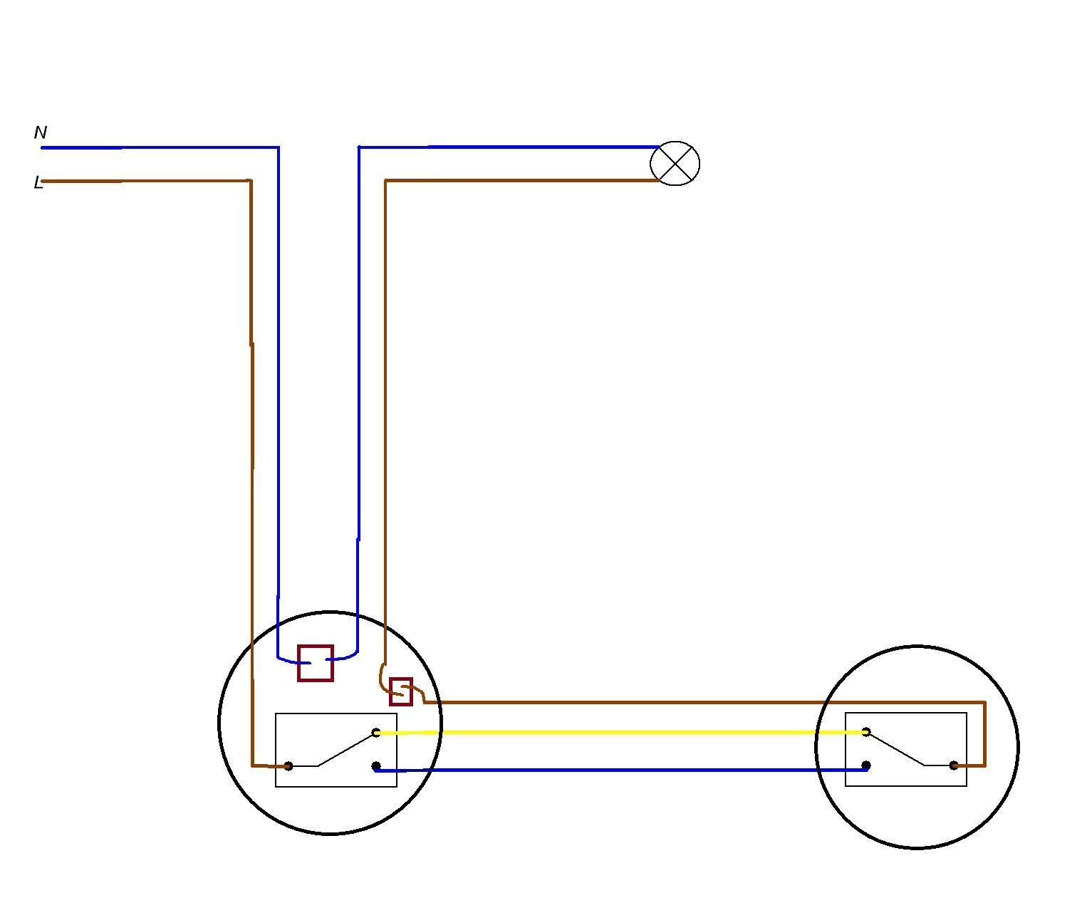 Как подключить двойной выключатель схема подключения фото